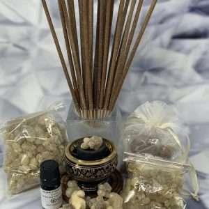 Frankincense, Myrrh, Sage and Palo Santo